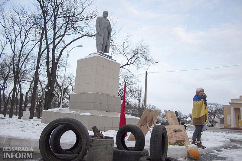 Шины, биты и щиты. Измаильчане воссоздали атмосферу революции (ФОТО)
