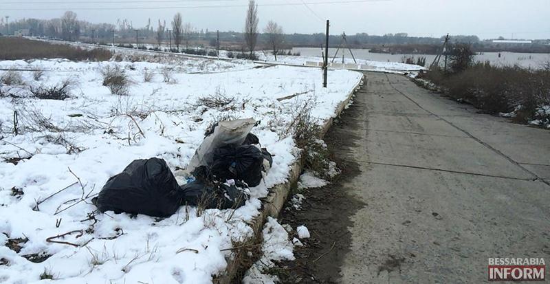 """mysor-na-lebyajem-6 Измаил: """"хулиганы"""" превратили озеро Лебяжье в мусорку, власть бездействует (фото)"""
