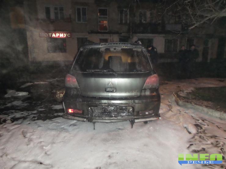 20141211_225938 В Измаиле сожгли журналисту автомобиль  «Митсубиси»