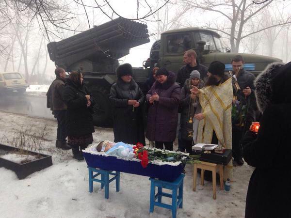 Фото дня: похороны в Донецке