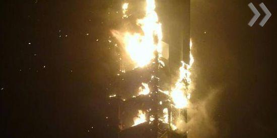 1-new_article В Дубае горит один из самых высоких жилых комплексов «Факел» (фото,видео)