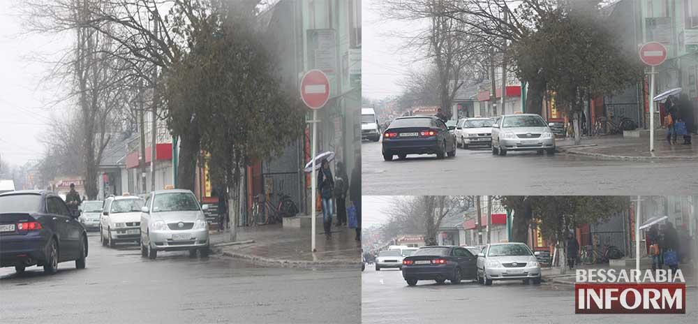 Нарушение ПДД на перекрестке в Измаиле - еду как хочу (фото - видео)