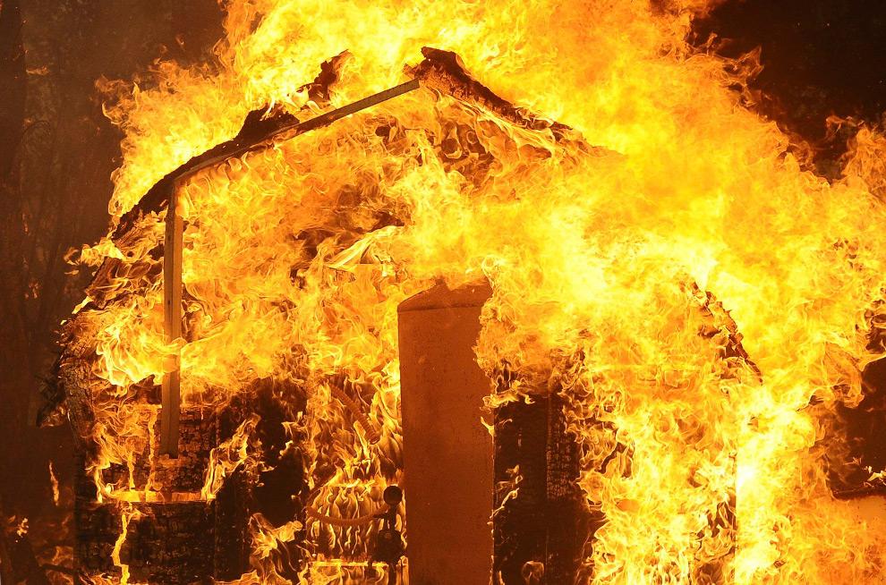216799 Арцизский район: в результате пожара пострадал мужчина