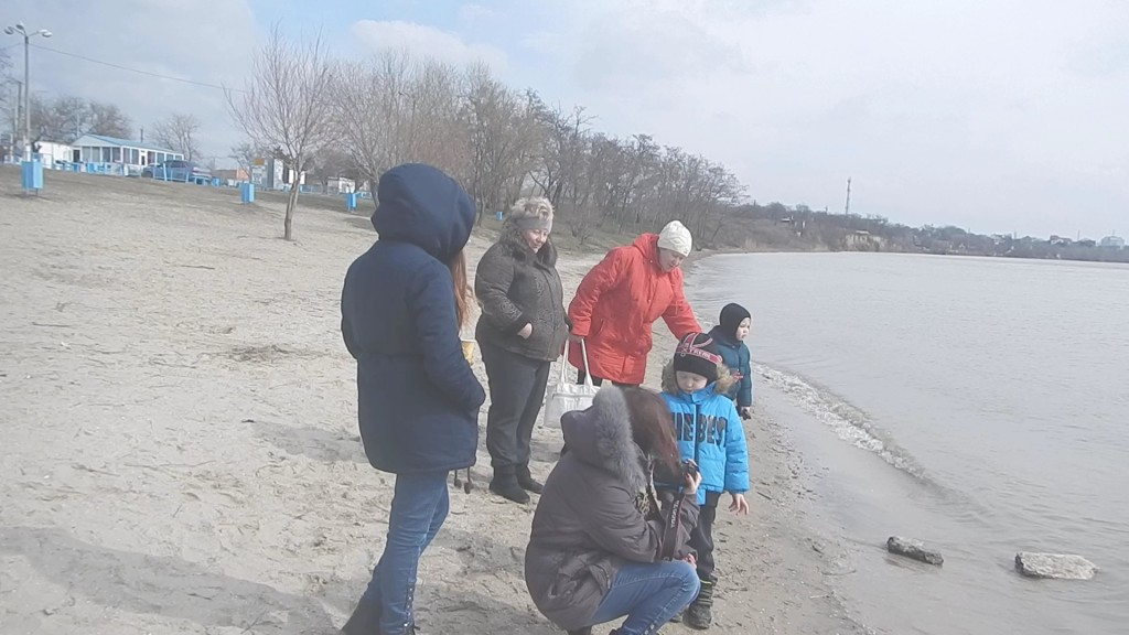 Моржи провели мастер-класс на берегу Дуная (фото)