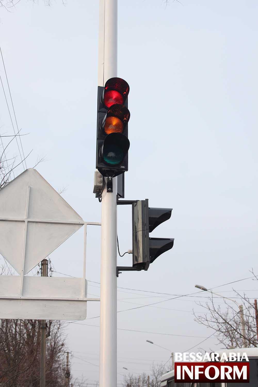 На Белгород-Днестровской установлен светофор (фото)
