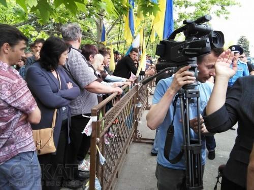 Представление Саакашвили: у Одесской ОГА усилены меры безопасности