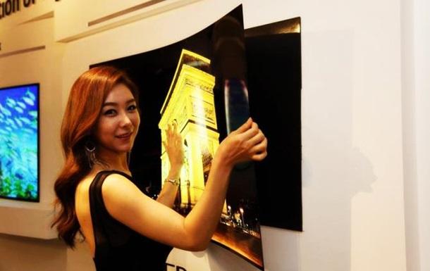 1626492 LG показала первый в мире телевизор толщиной менее миллиметра