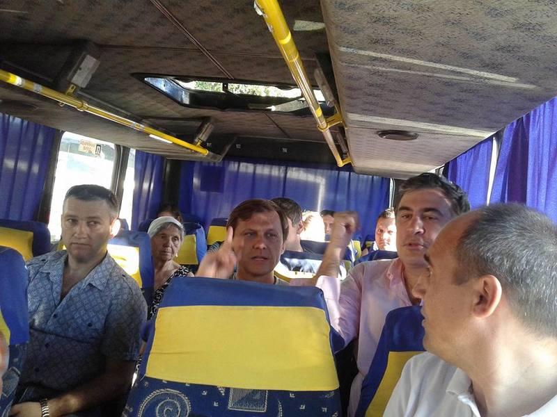 Михаил Саакашвили принял участие в открытии набережной в Затоке