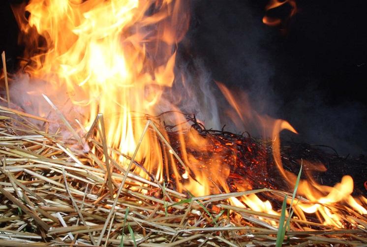 1412592768132 В результате пожара в Тарутинском р-не сгорело больше двух тонн сена