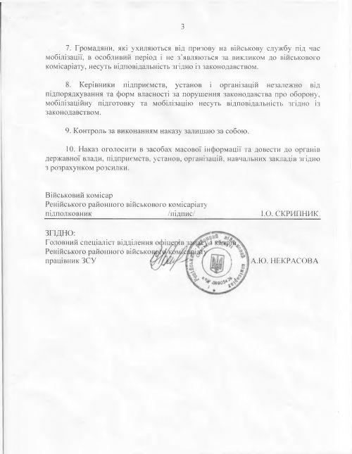 военкомат-2 В Рени запрещают военнообязанным менять место жительства без ведома военкома