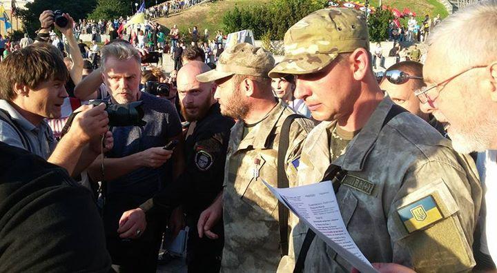 "10320266_871069236261714_232175575369733703_n Подробности митинга ""Правого сектора"" на Майдане: ""новый этап революции"" от Яроша (фото)"
