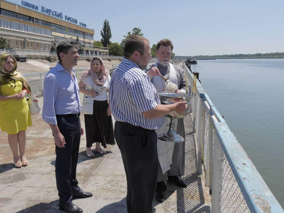 Работники Измаильского порта и УДП молились о мире и благодати нашего края