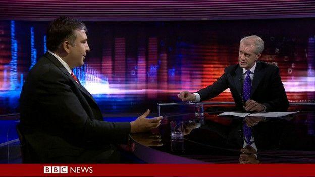 Саакашвили в интервью BBC: Я в Украине ради того, чтобы помочь избежать войны