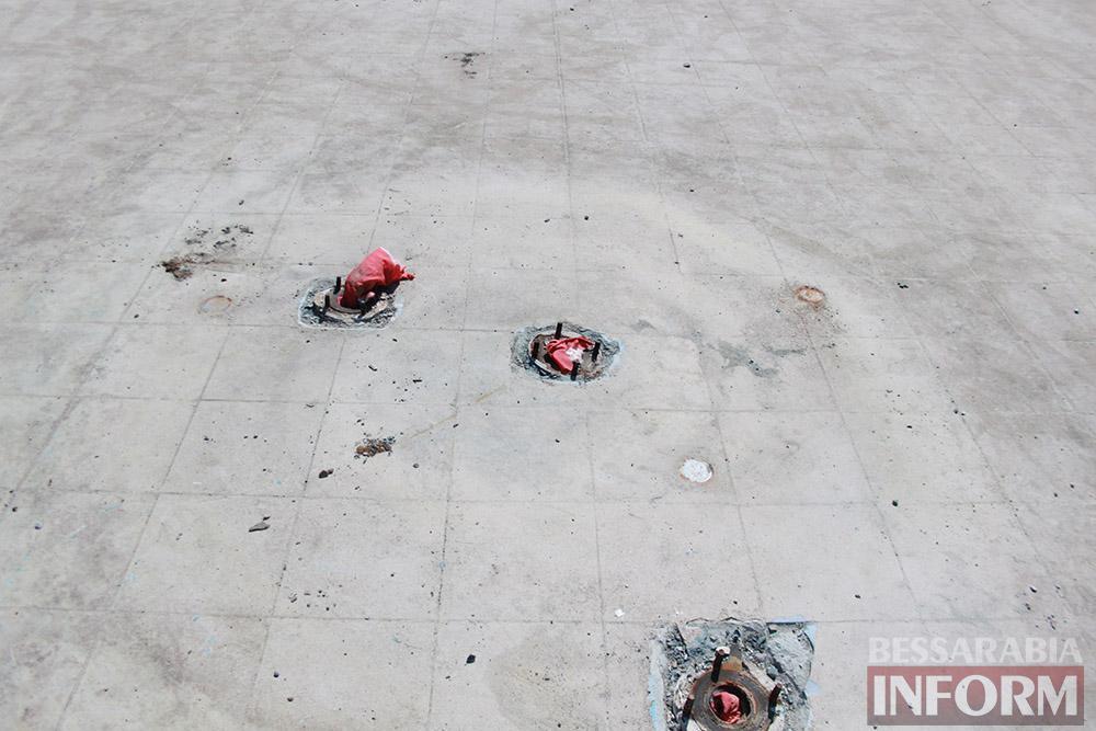 IMG_0275 Центральный фонтан в Измаиле будет освещаться в патриотических тонах