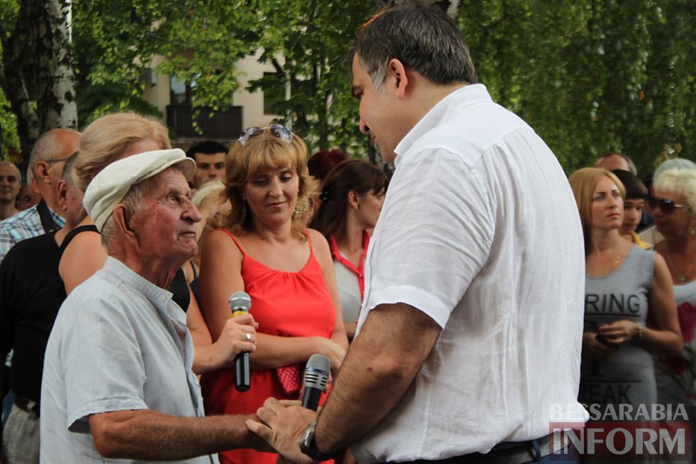 Михаил Саакашвили посетил Измаил и выслушал наболевшие проблемы жителей города и района (фото)