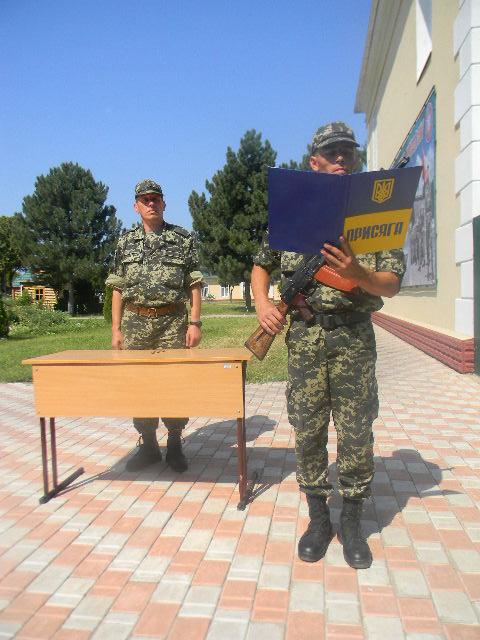 присяга-1 В Измаильском погранотряде военнослужащие присягнули на верность народу Украины