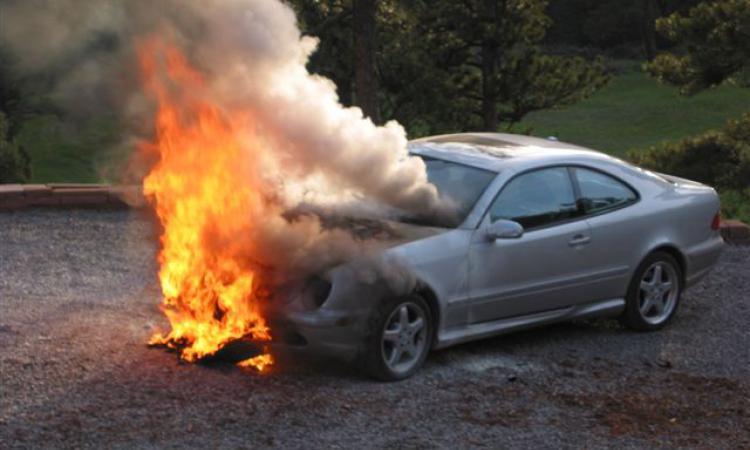 1 В Измаиле снова горел автомобиль