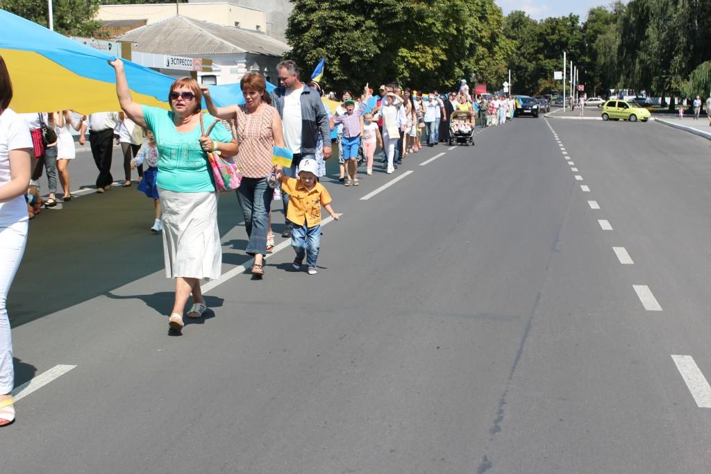 IMG_2870-1024x683 На День Независимости измаильчане развернули стометровый флаг (фоторепортаж)