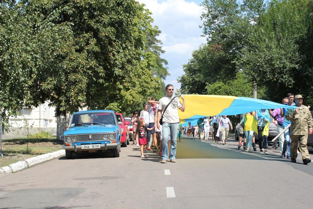 IMG_2886-1024x683 На День Независимости измаильчане развернули стометровый флаг (фоторепортаж)