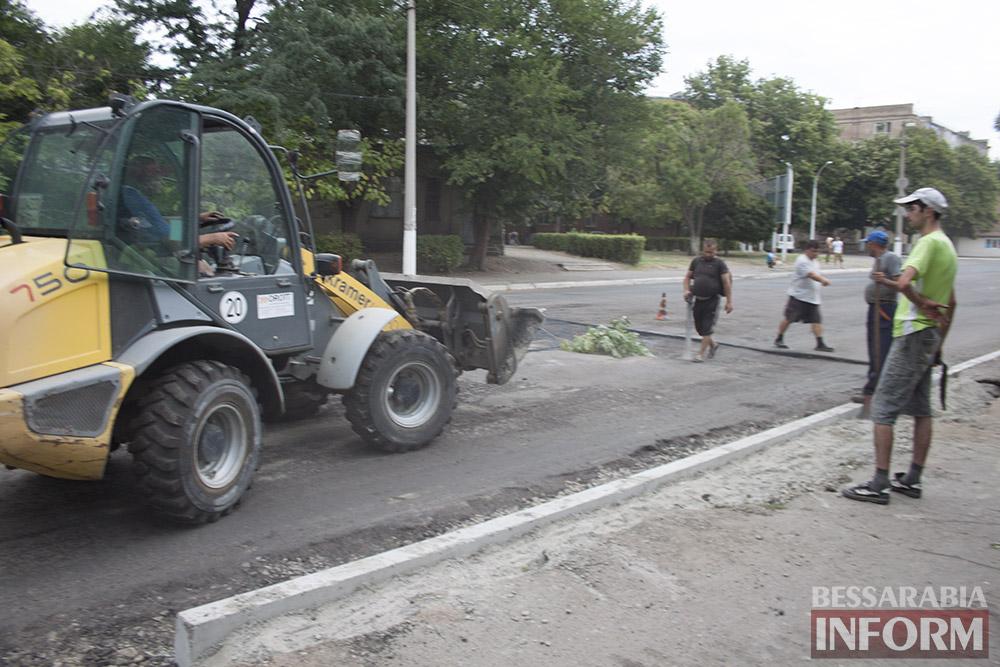 В Измаиле полным ходом идет ремонт улицы Шевченко (фото)