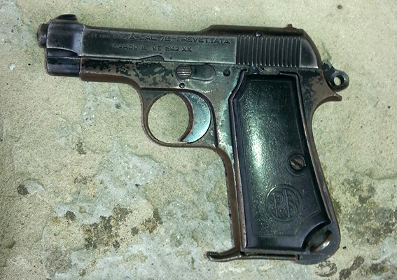 У жителя Измаильского р-на милиция изъяла пистолет с заряженным магазином