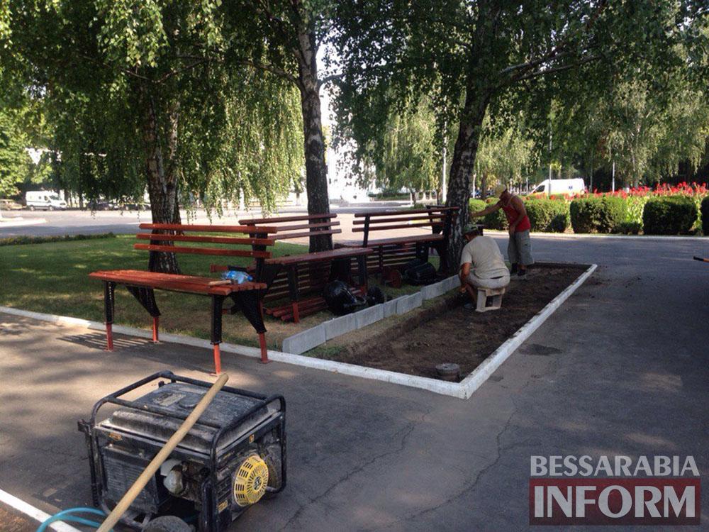 TOocxqDVK8 В Измаиле продолжают благоустраивать площадь Победы (фото)
