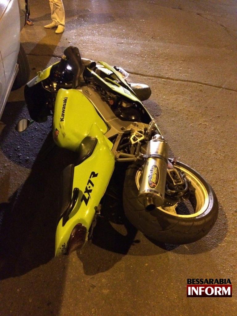 В  Измаиле в ДТП пострадал байкер