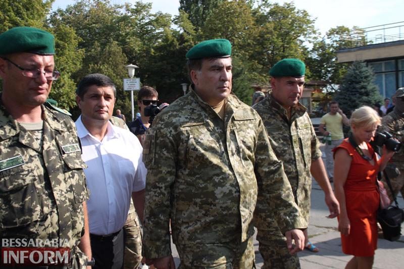 Михаил Саакашвили посетил Измаильский пограничный отряд (фото)