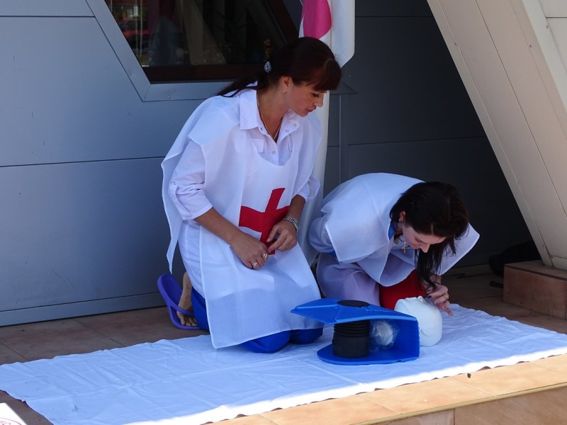 В Измаиле Общество Красного Креста обучало азам оказания первой медпомощи (фото)