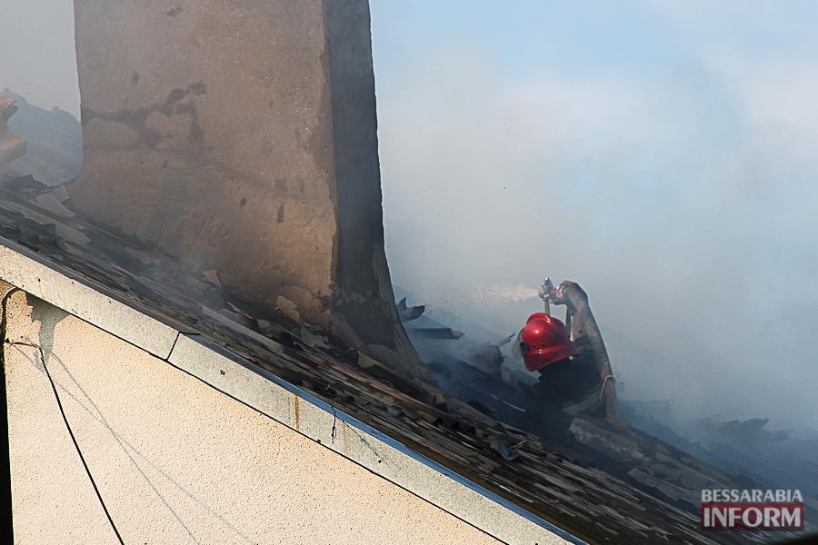 В Измаиле горел частный дом (фото)