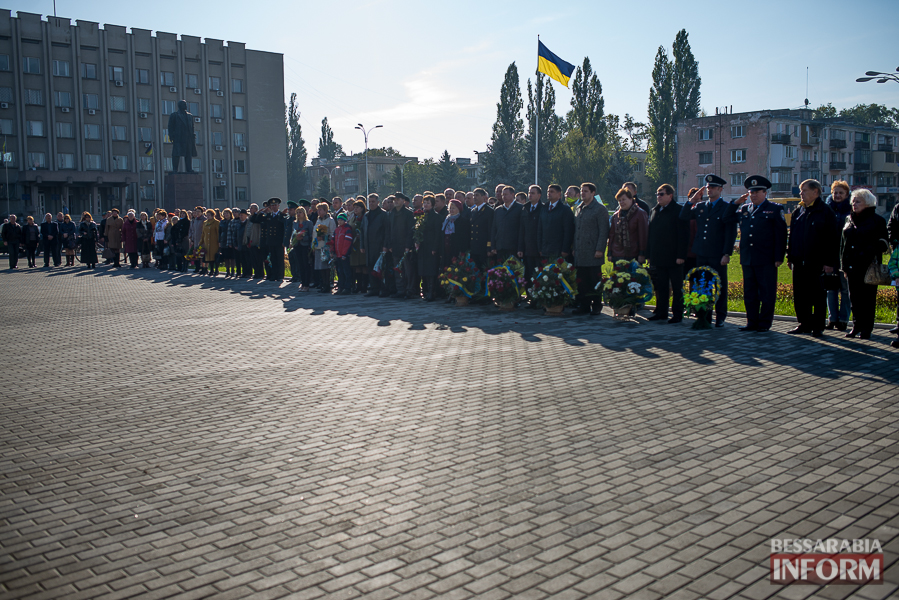В Измаиле состоялось торжественное возложение цветов по случаю Дня защитника Украины