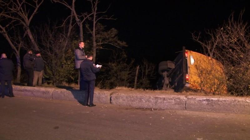 В Одессе перевернулась маршрутка: есть пострадавшие