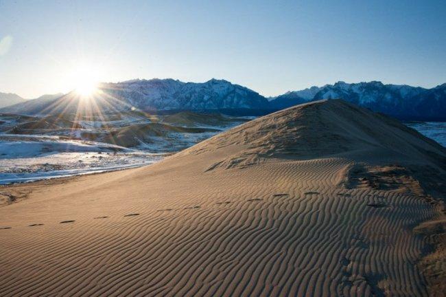 136 Пустыня среди ледников в Забайкалье: Чарские пески