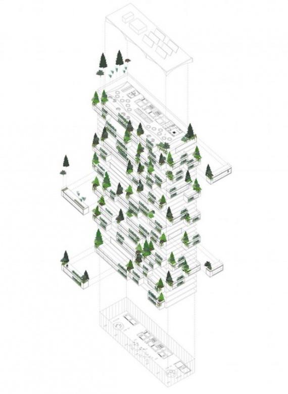 5c16141 Небоскрёб, многоквартирный дом и вертикальный вечнозелёный лес в одном флаконе