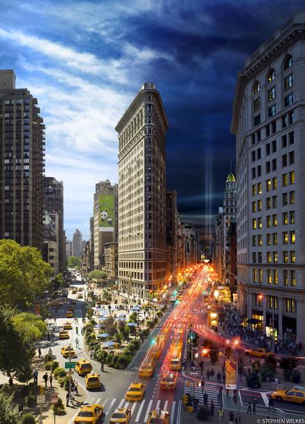 24 часа в одном снимке. Американский фотограф совместил дневные и ночные пейзажи разных городов