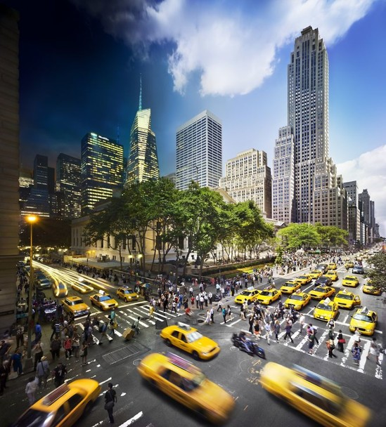 78030_main 24 часа в одном снимке. Американский фотограф совместил дневные и ночные пейзажи разных городов