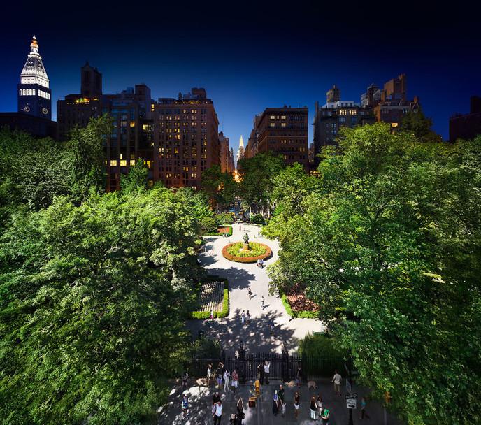 78039_main 24 часа в одном снимке. Американский фотограф совместил дневные и ночные пейзажи разных городов
