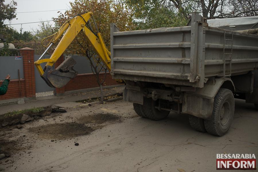SME_3067 В Измаиле начался ремонт одной из худших дорог города (ФОТО)