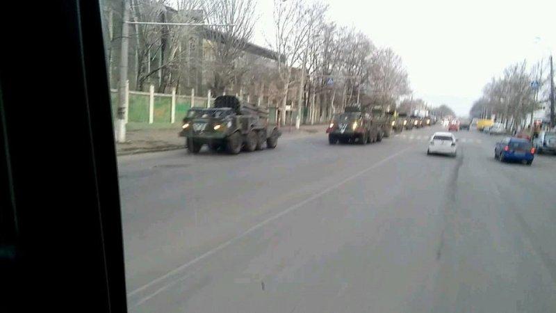 Военная техника на улицах Одессы