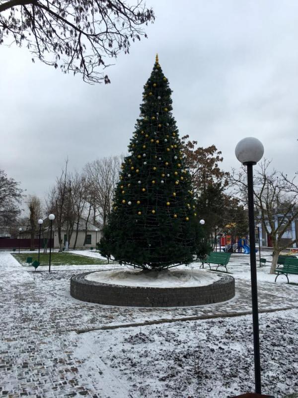 В Килии обокрали главную елку города (фото)