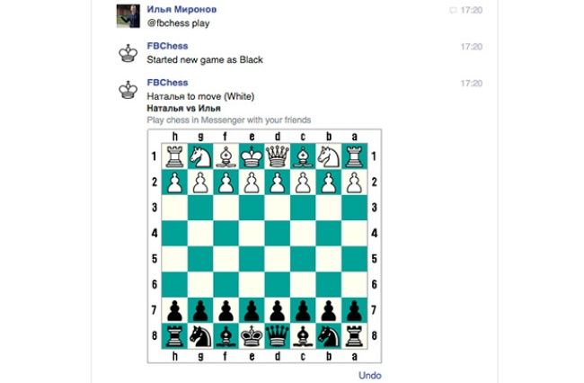В Facebook обнаружили скрытую возможность играть в шахматы