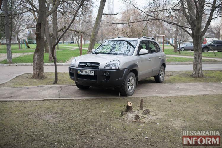SME_1248 «Я паркуюсь как … »: в Измаиле продолжают парковаться на газонах и игнорировать интересы пешеходов (фото)