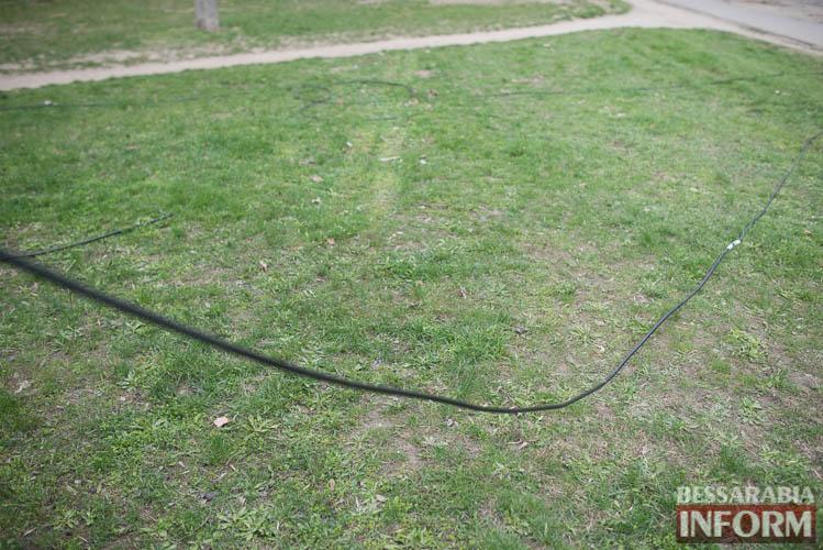 SME_1274 Измаил: по Клушина идет капитальный ремонт сетей наружного освещения (фото)