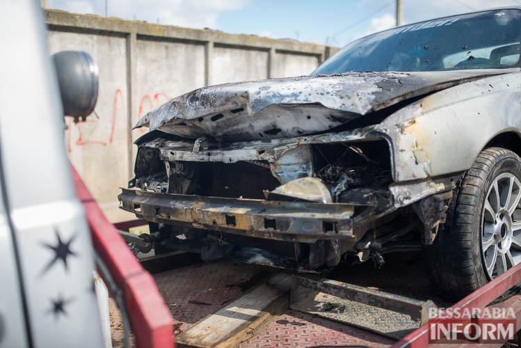 SME_2028 В Измаиле горел автомобиль (фото)