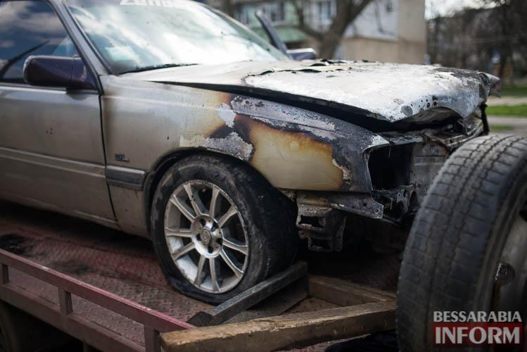 SME_2031 В Измаиле горел автомобиль (фото)