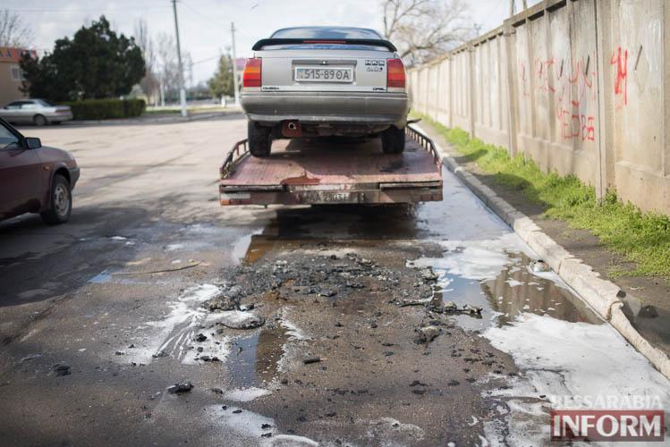 В Измаиле горел автомобиль (фото)