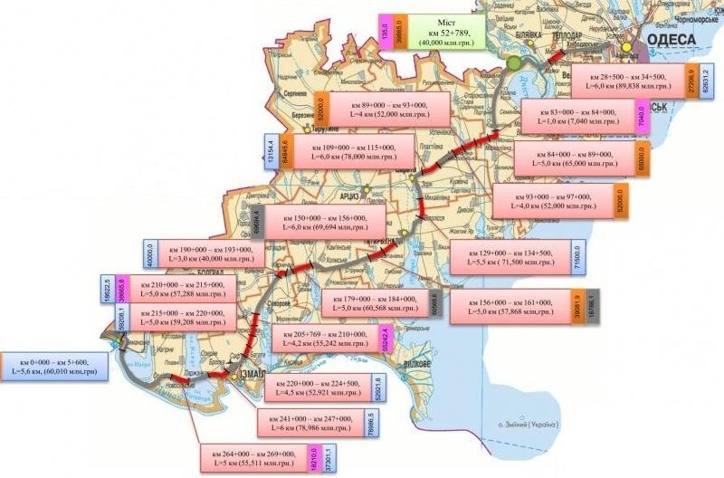 image7 Служба автомобильных дорог объявила тендер на ремонт еще восьми участков трассы Одесса-Рени