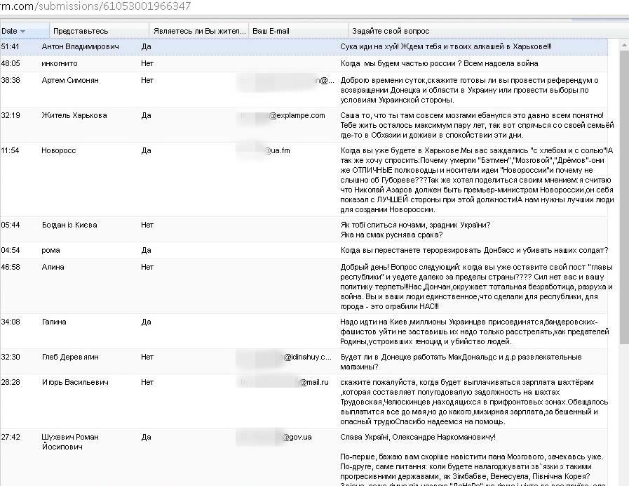 """СБУ потролила главаря """"ДНР"""" Захарченко и его прямую линию с жителями Одессы и Бессарабии"""