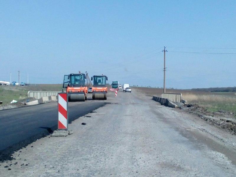 Ремонт трассы Одесса-Рени в районе села Монаши подходит к концу (фото)