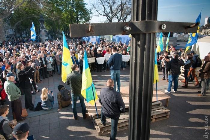 """В Одессе образовался новый """"мини-майдан"""". Требуют отставки мэра"""